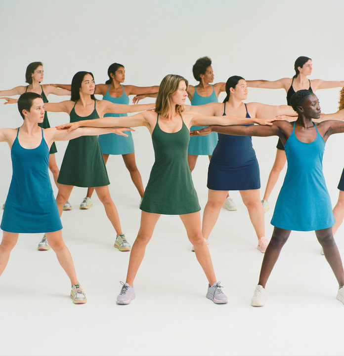 Outdoor Voices exercise dress campaign