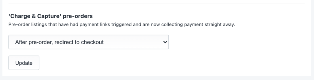 choose 'pay now' pre-order redirect