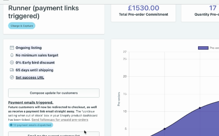 sending follow up payments links